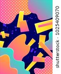 modern abstract poster cover.... | Shutterstock .eps vector #1025409070