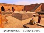 group of buddhist pilgrims  ... | Shutterstock . vector #1025412493