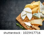 various types of cheese  ... | Shutterstock . vector #1025417716