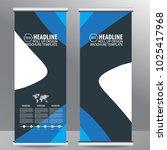roll up business brochure flyer ...   Shutterstock .eps vector #1025417968