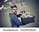 excited successful business man ... | Shutterstock . vector #1025419624