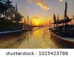 view sunset at kuala ruat yan ... | Shutterstock . vector #1025423788