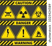 set of signs the radiation ... | Shutterstock .eps vector #1025424589