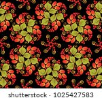 traditional russian seamless... | Shutterstock .eps vector #1025427583