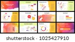 business presentation templates.... | Shutterstock .eps vector #1025427910