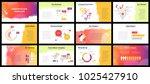 business presentation templates.... | Shutterstock .eps vector #1025427910