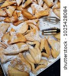 Small photo of oznei Haman, hamantashen, cookies recognizable for its triangular shape, associated with the Jewish holiday of Purim