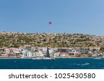 beautiful sea view of cesme... | Shutterstock . vector #1025430580