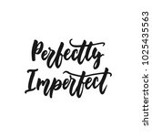 perfectly imperfect   hand... | Shutterstock .eps vector #1025435563