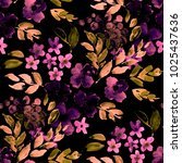 watercolor seamless pattern... | Shutterstock . vector #1025437636
