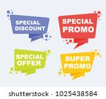 collection of sale discount... | Shutterstock .eps vector #1025438584