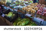fresh produce on table at...   Shutterstock . vector #1025438926