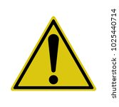 exclamation sign  hazard... | Shutterstock .eps vector #1025440714