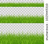 set of green grass elements on... | Shutterstock .eps vector #1025445310
