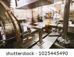 cookie factory  food industry.... | Shutterstock . vector #1025445490
