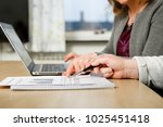 team of two people working...   Shutterstock . vector #1025451418