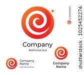 Flower Swirl Line Logo Modern...
