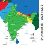 india map | Shutterstock .eps vector #102545279