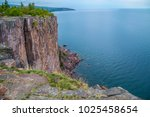 lake superior cliffs hundred... | Shutterstock . vector #1025458654