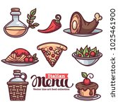 italian menu  vector collection ... | Shutterstock .eps vector #1025461900