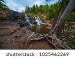 gooseberry falls waterfall...   Shutterstock . vector #1025462269