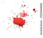 paint splash and drop. hand... | Shutterstock . vector #1025464006