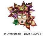 theatre mask  emotions | Shutterstock . vector #1025466916