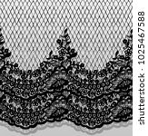 seamless vector black lace... | Shutterstock .eps vector #1025467588