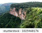 beautiful waterfalls at chapada ... | Shutterstock . vector #1025468176