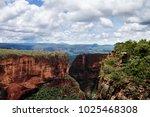 landscape at chapada dos guimar ... | Shutterstock . vector #1025468308