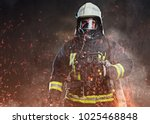 a firefighter dressed in a... | Shutterstock . vector #1025468848