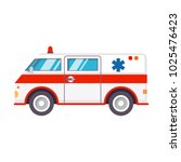 ambulance car.hospital... | Shutterstock .eps vector #1025476423