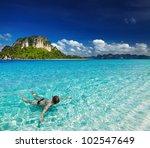 tropical beach  andaman sea ... | Shutterstock . vector #102547649