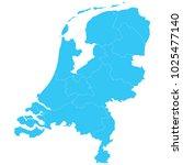 high detailed blue vector map   ... | Shutterstock .eps vector #1025477140