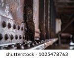 close up macro of railroad...   Shutterstock . vector #1025478763