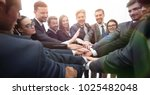large group of business people... | Shutterstock . vector #1025482048