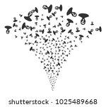 unknown person stream fountain. ... | Shutterstock .eps vector #1025489668