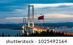 osman gazi bridge  izmit bay... | Shutterstock . vector #1025492164