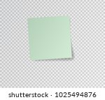 paper sticker with shadow on... | Shutterstock .eps vector #1025494876