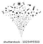 microbes fireworks fountain....   Shutterstock .eps vector #1025495503