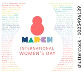 happy international women's day ... | Shutterstock .eps vector #1025496139
