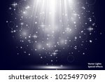 vector spotlights. scene. light ... | Shutterstock .eps vector #1025497099