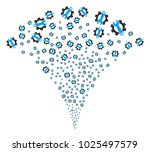 service tools festive fountain. ...   Shutterstock .eps vector #1025497579