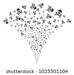 death skull fireworks fountain. ... | Shutterstock .eps vector #1025501104