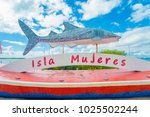 isla mujeres   january 10  2018 ... | Shutterstock . vector #1025502244