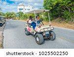 isla mujeres   january 10  2018 ... | Shutterstock . vector #1025502250