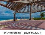 isla mujeres   january 10  2018 ... | Shutterstock . vector #1025502274