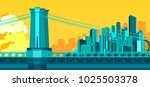 vector illustration of abstract ... | Shutterstock .eps vector #1025503378