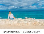 beautiful outdoor view of woman ... | Shutterstock . vector #1025504194