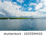 outdoor view of some boats... | Shutterstock . vector #1025504410
